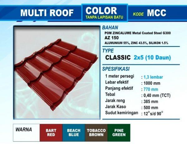 Genteng Metal Multi Roof Color Classic