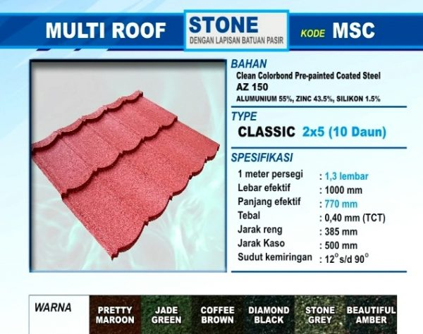 Genteng Metal Multi Roof Stone Classic