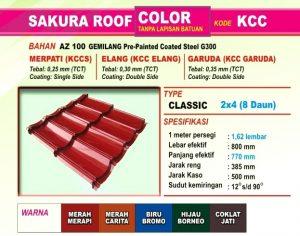 Genteng Metal Sakura Roof Color Classic