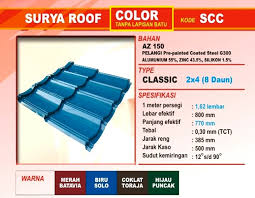 Genteng Metal Surya Roof Color