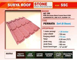 Genteng Metal Surya Roof Stone Permata