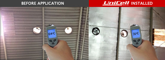 Insulation Unicell Sebelum & Sesudah