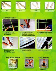 Plafon PVC DSS Cara Pemasangan