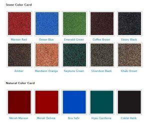 genteng metal rainbow roof spesifikasi 1