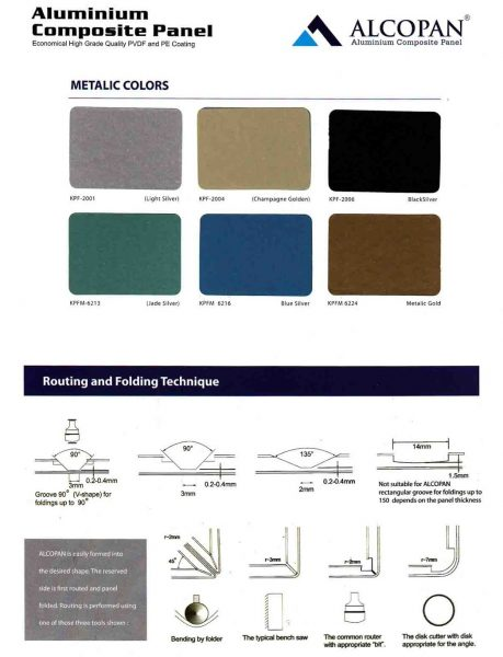 ALUMINIUM COMPOSITE PANEL ALCOPAN WARNA METALIK