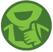 Atap Go Green Logo Aplikasi Mudah