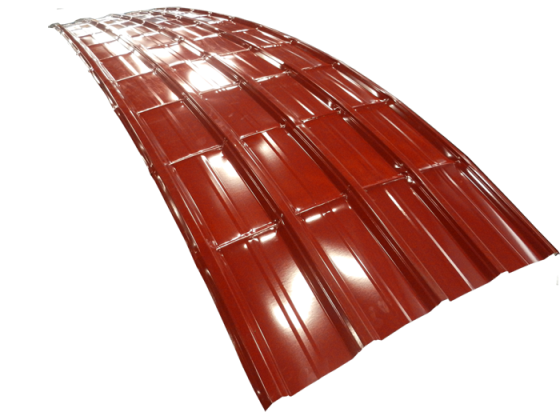 Atap Lengkung Warna