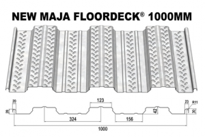 Floordeck - Bondek New Maja Floordeck 1000