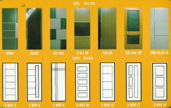 Pintu Exellent Door HPL dan WPC